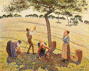 298px-Camille Pissarro - La récolte des pommes à Éragny 43127f71088